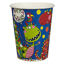 Buy Rachel Ellen Dinosaur Cups, Pack of 8 Online at johnlewis.com