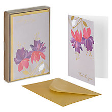 Buy Art File Floral Thank You Notecards, Pack of 10 Online at johnlewis.com