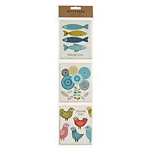 Buy Art File Birds and Fish Hanging Notecards, Pack of 12 Online at johnlewis.com