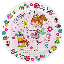 Buy Rachel Ellen Fairy Birthday Girl Paper Plates, Pack of 8 Online at johnlewis.com