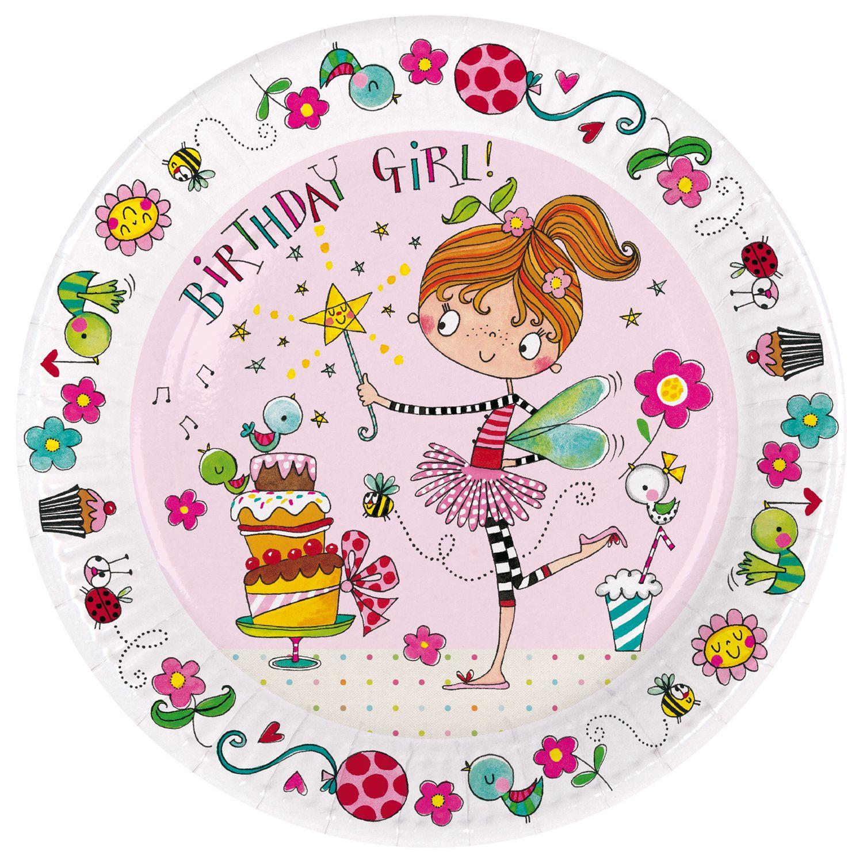Rachel Ellen Rachel Ellen Fairy Birthday Girl Paper Plates, Pack of 8