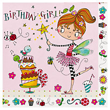 Buy Rachel Ellen Fairy Birthday Girl Napkins, Pack of 20 Online at johnlewis.com