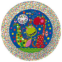 Buy Rachel Ellen Dino Birthday Paper Plates, Pack of 8 Online at johnlewis.com