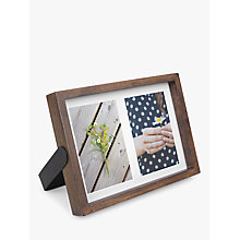 "Buy Umbra Axis Double Frame, 4 x 6"", Walnut Online at johnlewis.com"