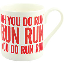 Buy McLaggan Smith Hey! Holla 'Oh You Do Run' Mug Online at johnlewis.com