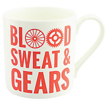 Buy McLaggan Smith Hey! Holla 'Blood, Sweat & Gears' Mug Online at johnlewis.com