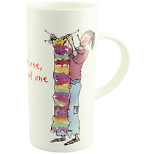 Buy McLaggan Smith Quentin Blake Tall 'Knit One, Purl One' Mug Online at johnlewis.com