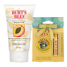 Buy Burt's Bees Peach and Willow Bark Deep Pore Scrub, 110g: With FREE Gift Online at johnlewis.com