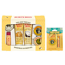 Buy Burt's Bees Tips And Toes Skincare Starter Kit: With FREE Gift Online at johnlewis.com