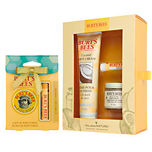 Buy Burt's Bees® Nuts About Nature Gift Set: With FREE Gift Online at johnlewis.com