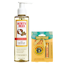 Buy Burt's Bees® Facial Cleansing Oil, 177ml: With FREE Gift Online at johnlewis.com