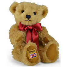 Buy Merrythought Traditional Gold Mohair Teddy Bear, H25cm Online at johnlewis.com