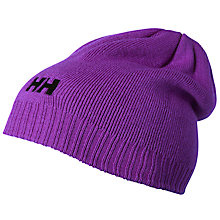 Buy Helly Hansen Ribbed Logo Beanie Hat, One Size Online at johnlewis.com