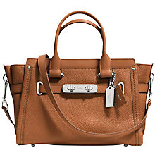 Buy Coach Swagger 27 Pebble Leather Across Body Bag Online at johnlewis.com