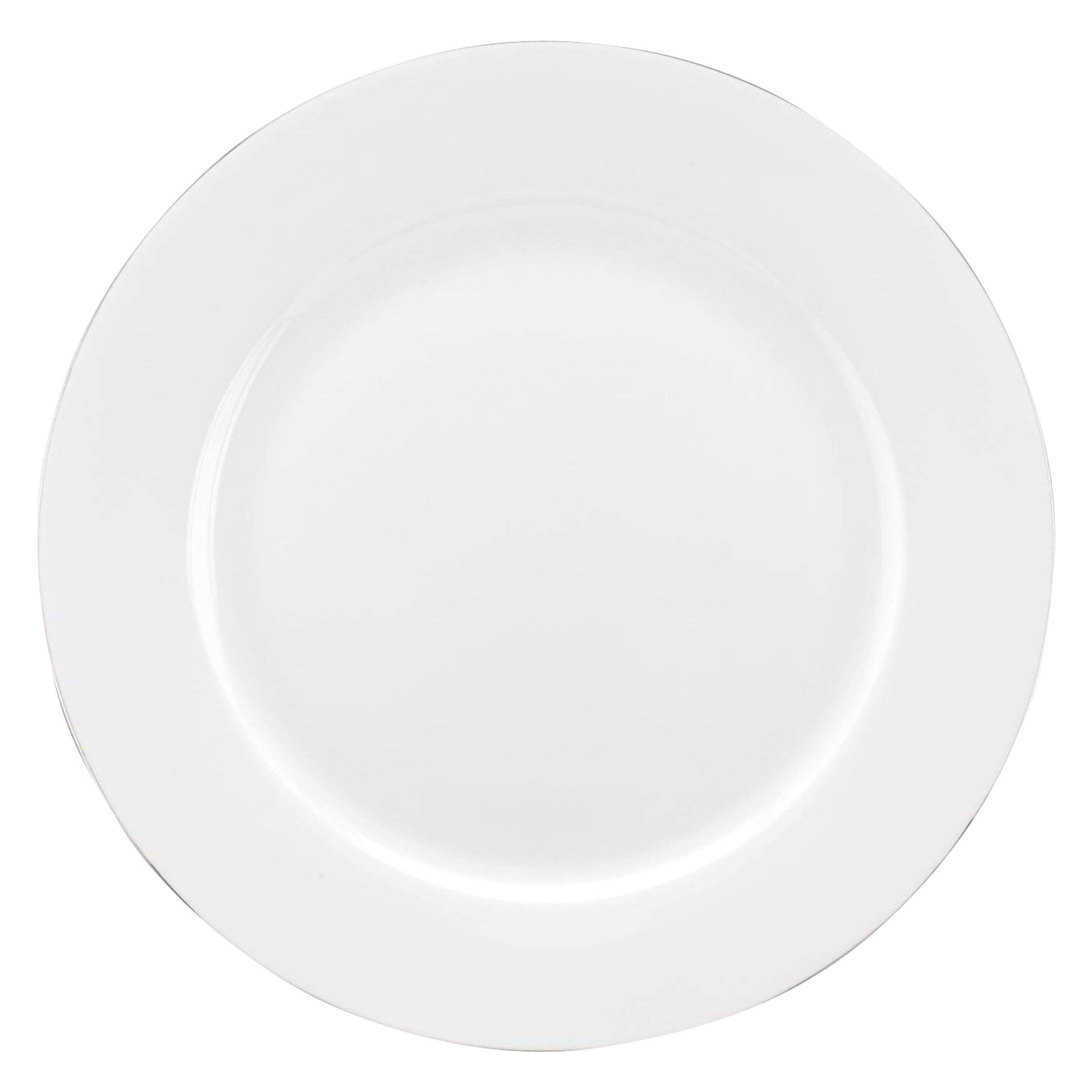 Royal Worcester Royal Worcester Serendipity Platinum Bone China Side Plate, White/ Silver, Dia.20.3cm