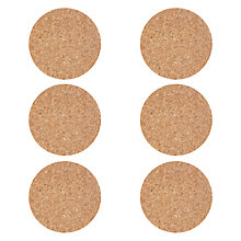 Buy House by John Lewis Cork Coaster, Set of 6 Online at johnlewis.com