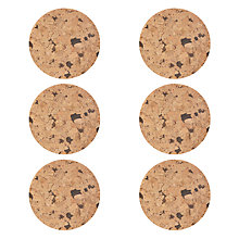 Buy House by John Lewis Speckled Cork Coaster, Set of 6 Online at johnlewis.com