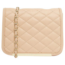Buy French Connection Quilted Mini Across Body Bag, Capri Blush Online at johnlewis.com