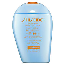Buy Shiseido WetForce Expert Sun Protection Lotion, SPF50+, 100ml Online at johnlewis.com