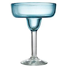 Buy John Lewis Mexicana Recycled Margarita / Cocktail Glass, Blue Online at johnlewis.com