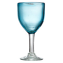 Buy John Lewis Mexicana Recycled Glass Goblet, Blue Online at johnlewis.com