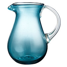 Buy John Lewis Mexicana Recycled Glass Jug, Blue Online at johnlewis.com