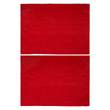Buy John Lewis Sparkle Placemat, Set of 2, Red Online at johnlewis.com