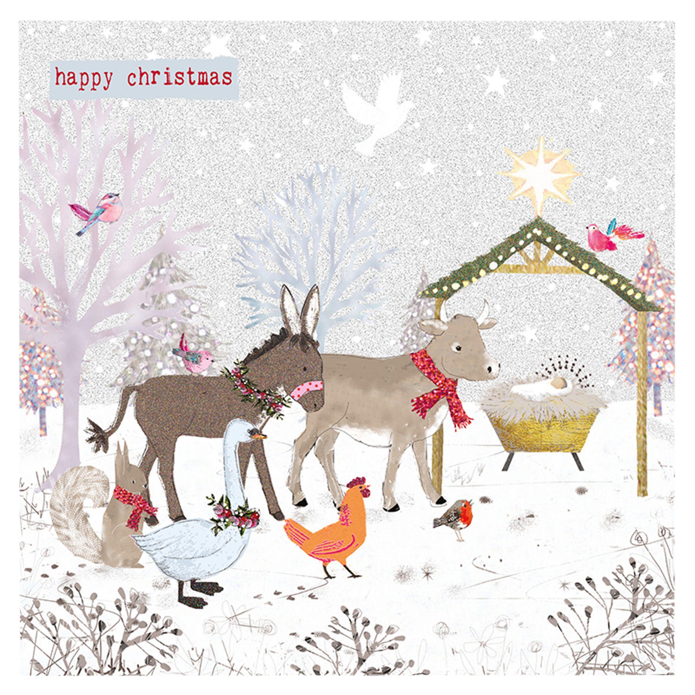 Hammond Gower Hammond Gower Animal Nativity Charity Christmas Cards, Pack of 5