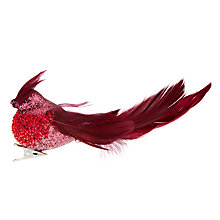 Buy John Lewis Ruskin House Beaded Bird Tree Clip, Burgundy Online at johnlewis.com