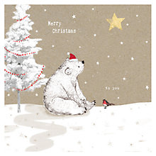 Buy Hammond Gower Bear And Robin Charity Christmas Cards, Pack of 5 Online at johnlewis.com