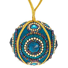 Buy John Lewis Shangri-La Embroidered Bauble, Blue Online at johnlewis.com