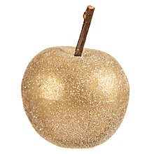 Buy John Lewis Ruskin House Glittered Apples, Box of 12, Gold Online at johnlewis.com