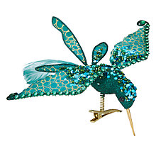 Buy John Lewis Shangri-La Hummingbird Tree Clip, Blue Online at johnlewis.com
