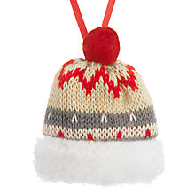 Buy John Lewis Chamonix Bobble Hat Tree Decoration Online at johnlewis.com