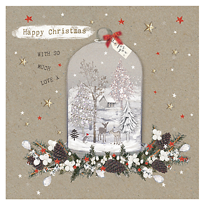 Product photo of Hammond gower christmas cloche charity christmas cards pack of 5