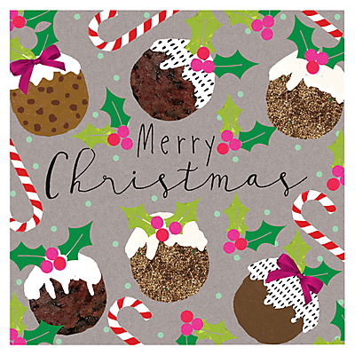 Product photo of Hammond gower christmas puddings charity christmas cards pack of 5