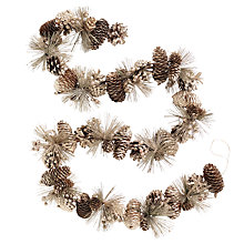 Buy John Lewis Ostravia Pinecone Garland, Champagne Online at johnlewis.com