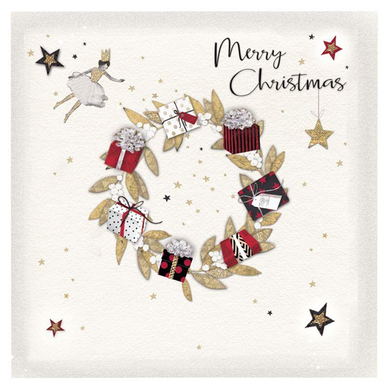 Hammond Gower Hammond Gower Christmas Wreath Charity Christmas Cards, Pack of 5