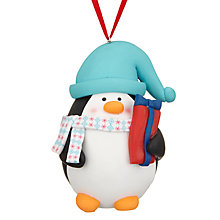 Buy John Lewis Grand Tour 3D Penguin Tree Decoration Online at johnlewis.com