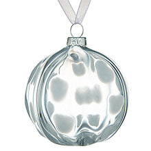 Buy John Lewis Snowshill Bauble, Clear Online at johnlewis.com