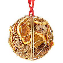 Buy Jormaepourri Ruskin House Gold Fruit Bauble Online at johnlewis.com