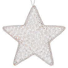 Buy John Lewis Snowshill Beaded Star Bauble Online at johnlewis.com