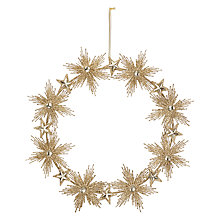 Buy John Lewis Ostravia Champagne Starburst Wreath, Champagne Online at johnlewis.com
