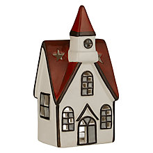 Buy John Lewis Chamonix Ceramic House Tealight Holder, Small Online at johnlewis.com