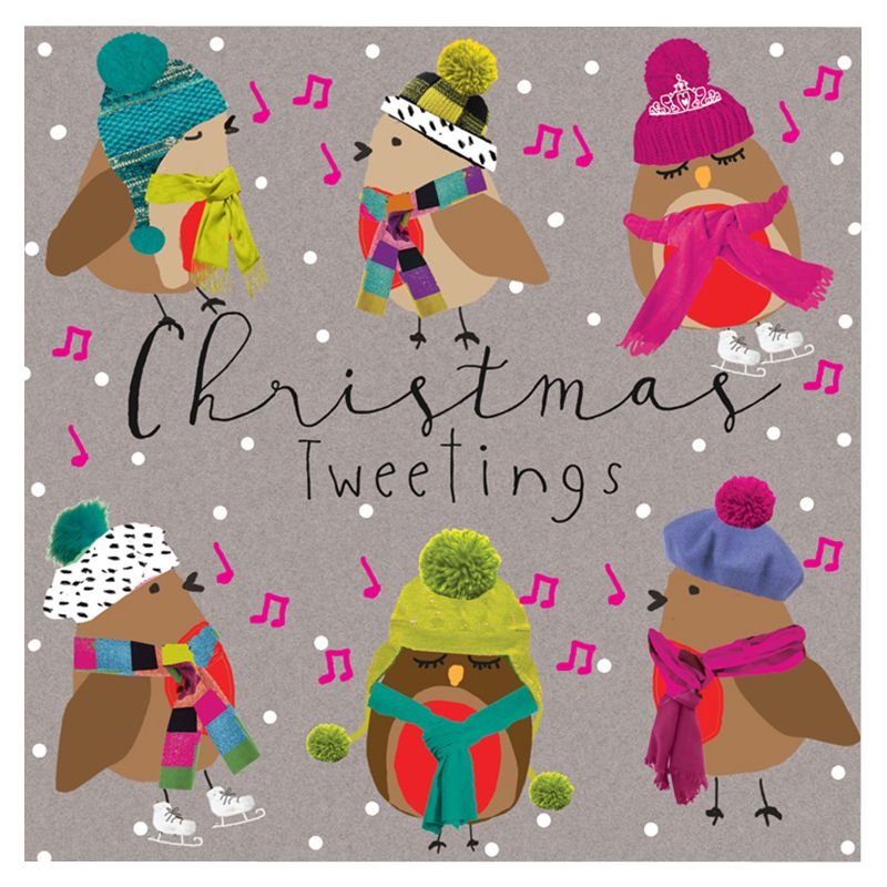 Hammond Gower Hammond Gower Christmas Tweetings Charity Christmas Cards, Pack of 5