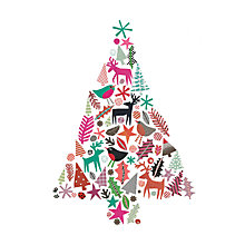 Buy Museums And Galleries Christmas Tree Charity Christmas Cards, Pack of 8 Online at johnlewis.com