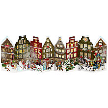 Buy Coppenrath Christmas Street Scene Advent Calendar, Fold Out Online at johnlewis.com