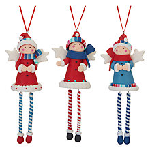 Buy John Lewis Grand Tour 3D Angels Hanging Decorations, Assorted Designs Online at johnlewis.com
