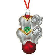 Buy John Lewis Circus Elephants Bauble Online at johnlewis.com