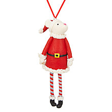 Buy John Lewis Grand Tour 3D Mrs Santa Mouse Tree Decoration Online at johnlewis.com